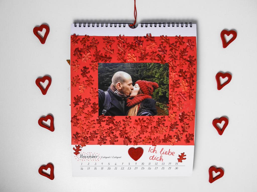 Valentinstag geschenkidee diy kalender - Kalender basteln ideen ...