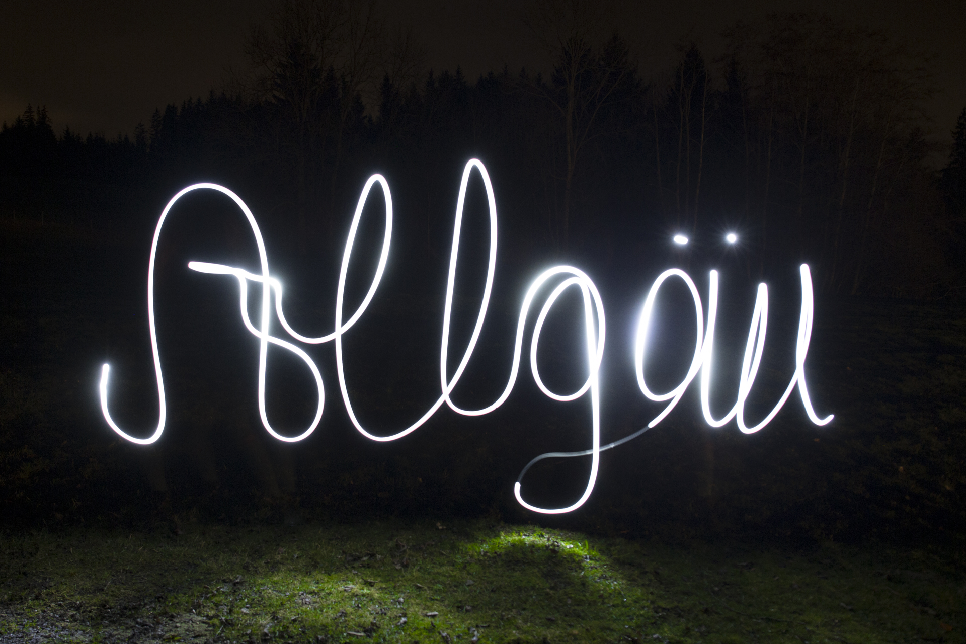 schreiben mit licht