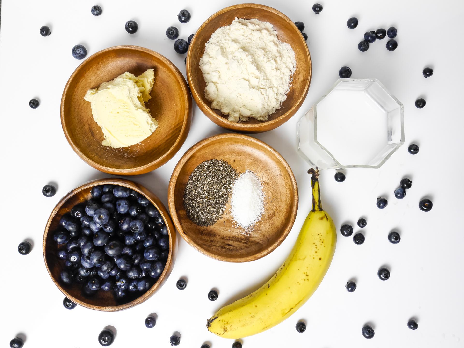 rezept blaubeer bananen shake