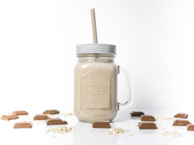schoko bananen protein shake