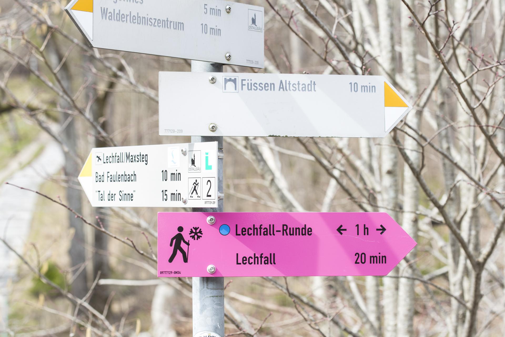In Richtung Fuessen Altstadt