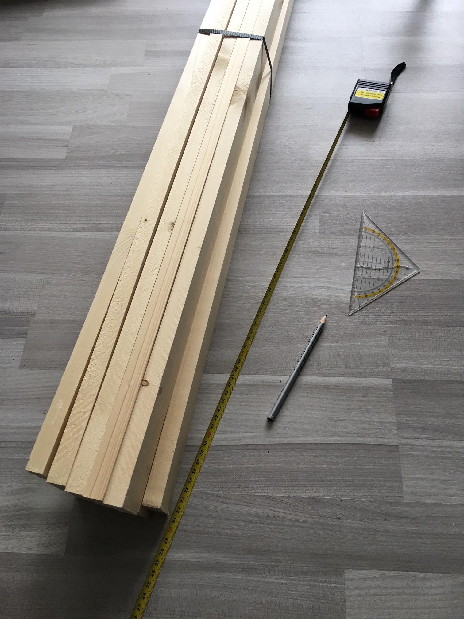 Material für Holzkübel