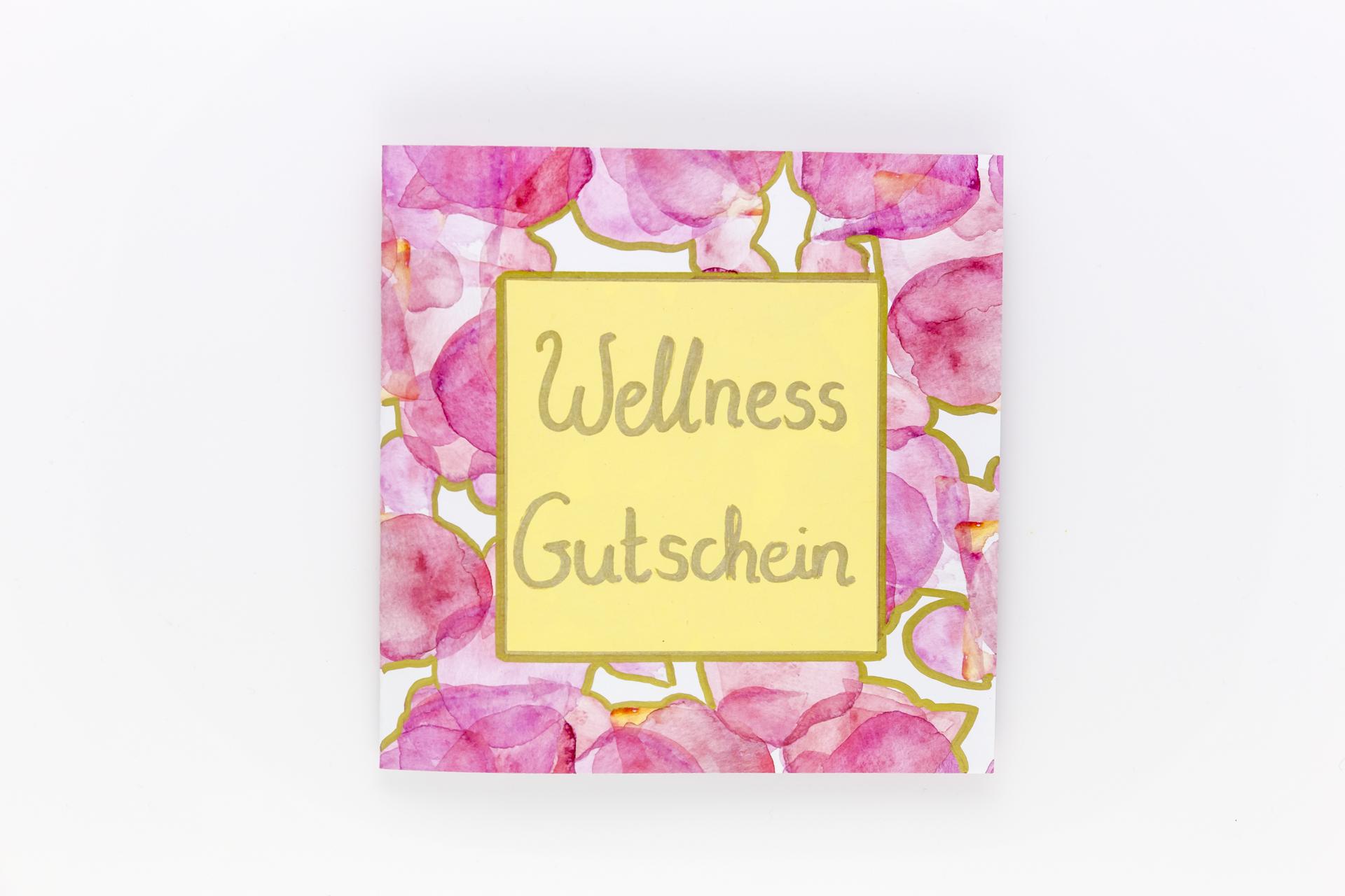 wellness gutschein selbstgemacht