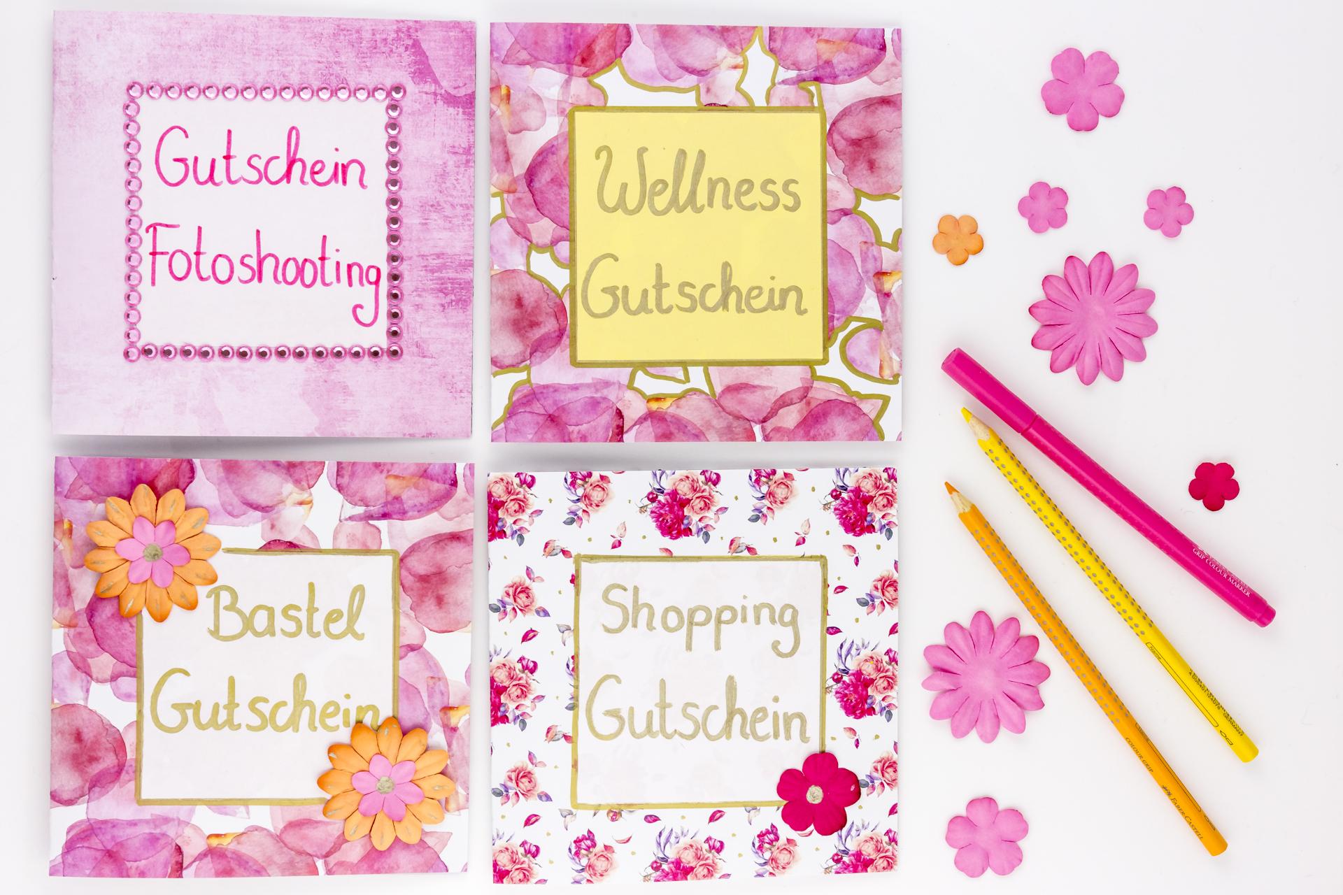 Gutscheine für Mama- selbstgemachte Geschenke zum Muttertag