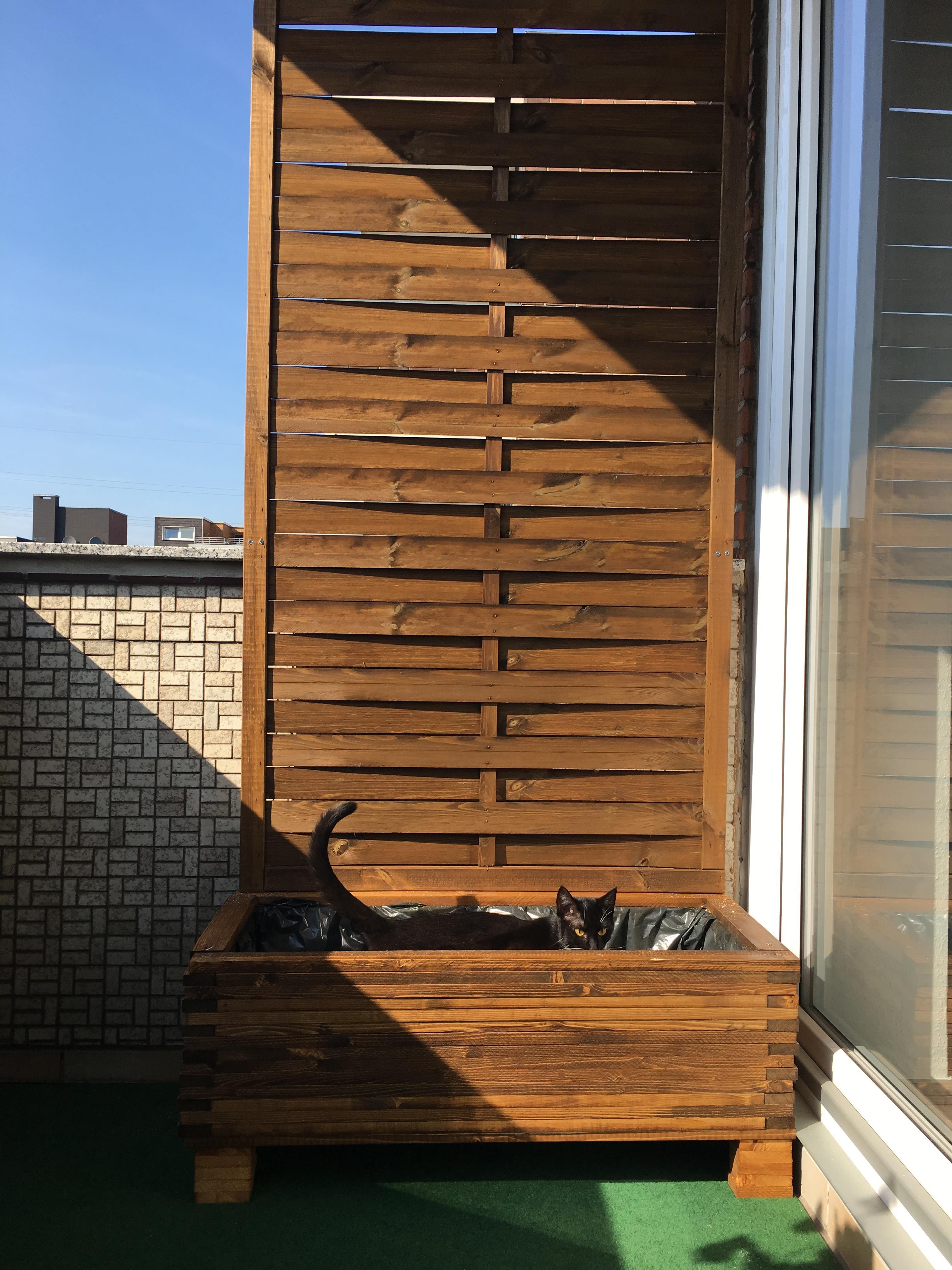 Balkon Sichtschutz Blumenkubel Diy Anleitung Idatschka De